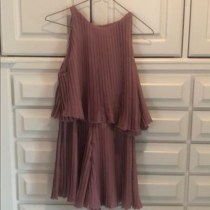 Lovers + Friends small dusty rose color romper